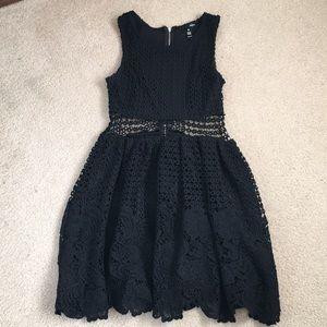 Aqua Black Lace Dress